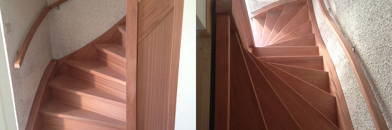 Houten trappen beijes trappen bouw - Houten trap monteer ...